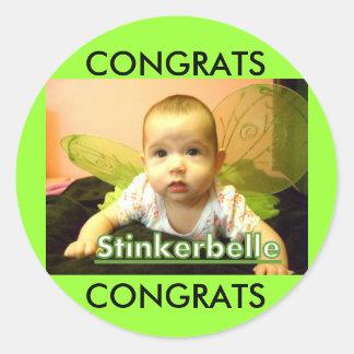 Glückwunsch auf Mädchen Sticker