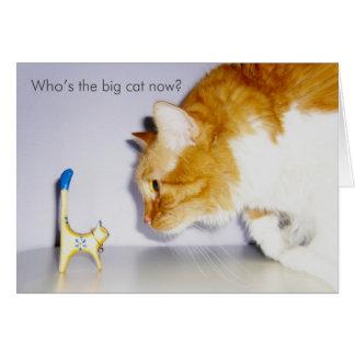 Glückwunsch auf Werbeaktion - humorvolle Katze Grußkarte