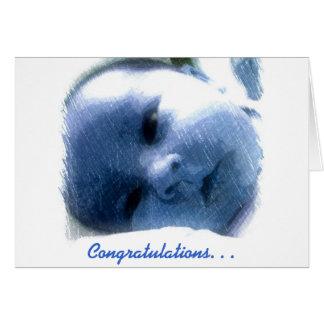 Glückwunsch-Baby Karte