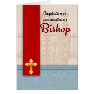 Glückwunsch-Bischofs-Klassifikation im Pergament Grußkarte