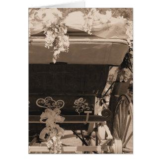 Glückwunsch-gerade verheiratete Hochzeits-Buggy Karte