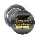 Glückwunsch graduiert Diplom-und Hut   Grau