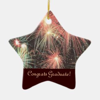 Glückwunsch graduiert Stern-Verzierung Weinachtsornamente