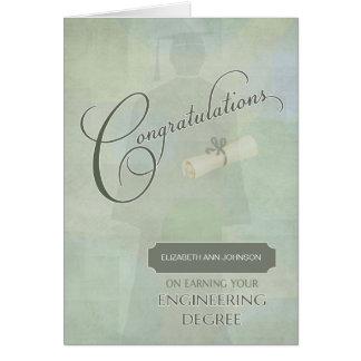 Glückwunsch-Ingenieurdiplom-Absolvent Wname Karte