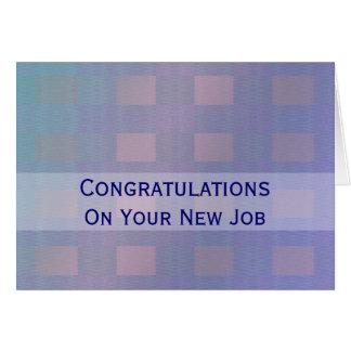Glückwunsch-Jobpastellblau Karte