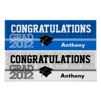 Glückwunsch-Klasse von Fahnen-Plakat-Blau 2012