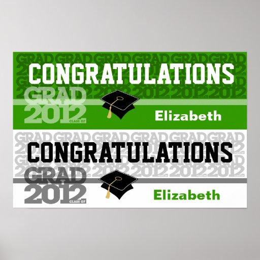 Glückwunsch-Klasse von Fahnen-Plakat-Grün 2012