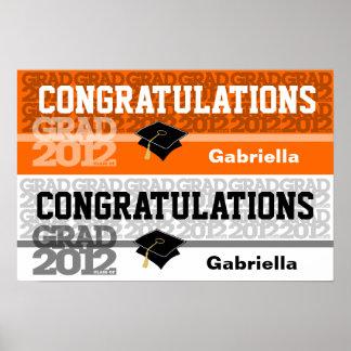 Glückwunsch-Klasse von Fahnen-Plakat-Orange 2012