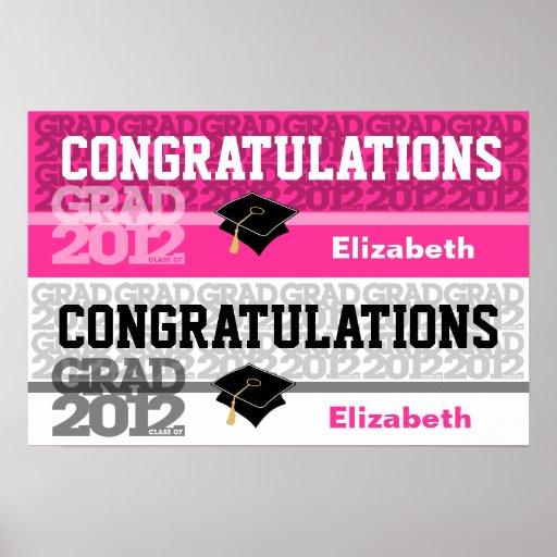 Glückwunsch-Klasse von Fahnen-Plakat-Rosa 2012