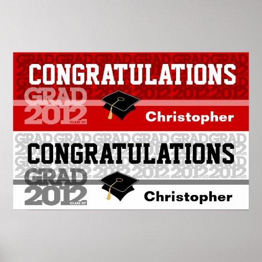 Glückwunsch-Klasse von Fahnen-Plakat-Rot 2012