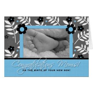 Glückwunsch-lesbische Mammen - Geburt eines Sohns Karte