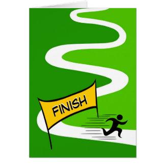 Glückwunsch-Marathon-Gruß-Karte Karte