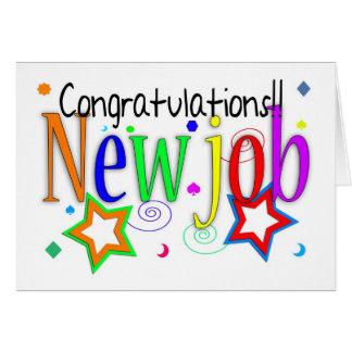 Glückwunsch-neue Job-Gruß-Karte - neuer Job - Grußkarte