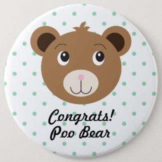 Glückwunsch Poo Bärn-Punkt-Grün-niedlicher Runder Button 15,3 Cm
