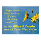 Glückwunsch-Postkarte mit Irischem Segensspruch Postkarte