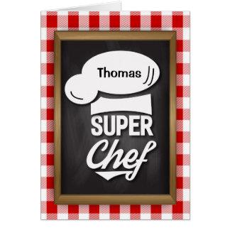 Glückwunsch-SuperKoch, kulinarischer Karte