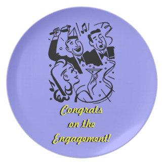 Glückwunsch-Verlobungs-Geschenk-Platte Teller