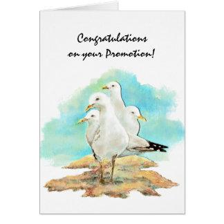 Glückwunsch-Werbeaktion von den Gruppen-Seemöwen, Grußkarte