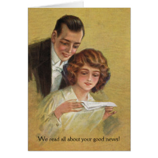 Glückwunsch-Wir lasen alle über Ihre guten Karte