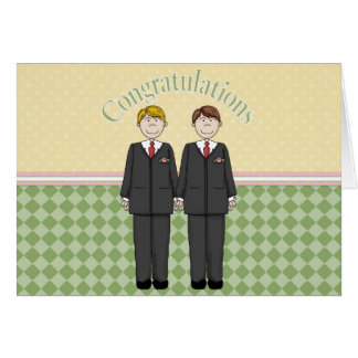 Glückwünsche 2 Bräutigame 1 Grußkarte