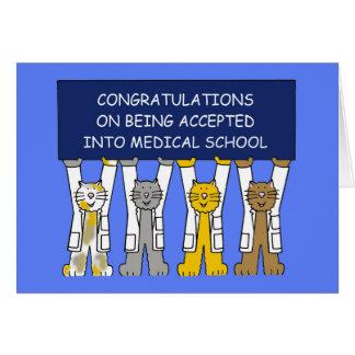 Glückwünsche auf Annahme in Medizinische Fakultät Karte