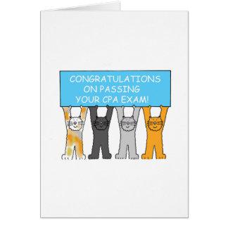Glückwünsche auf dem Bestehen der CPA-Prüfung Grußkarte