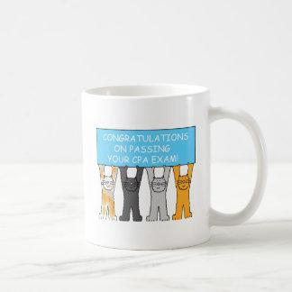 Glückwünsche auf dem Bestehen der CPA-Prüfung Kaffeetasse