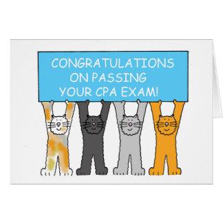 Glückwünsche auf dem Bestehen der CPA-Prüfung Karte
