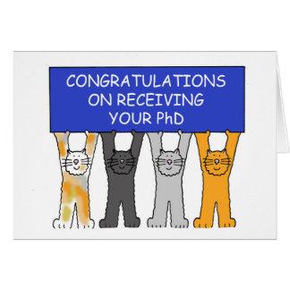 Glückwünsche auf dem Empfangen Ihres PhD. Grußkarte