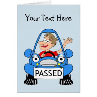 Glückwünsche auf dem Führen Ihrer Fahrprüfung Karte