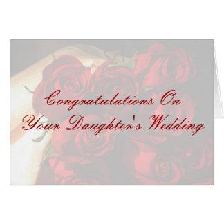 Glückwünsche auf der Hochzeit Ihrer Tochter Karte