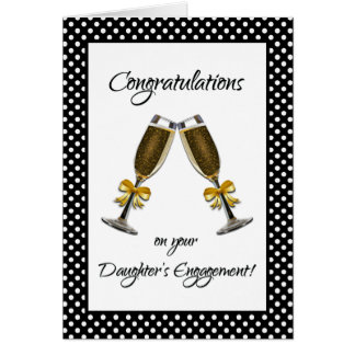 Glückwünsche auf der Verlobung Ihrer Tochter! Grußkarte