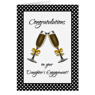 Glückwünsche auf der Verlobung Ihrer Tochter! Karte