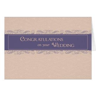 Glückwünsche auf Hochzeits-, Pflaumen-und Karte
