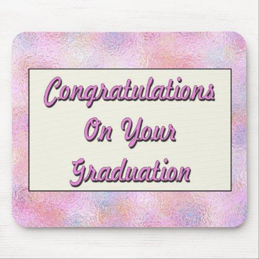 Glückwünsche auf Ihnen Abschluss Mauspad