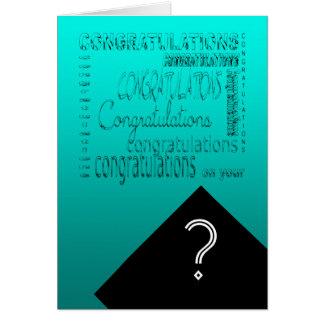 Glückwünsche auf Ihrem Abschluss #1 kundengerecht Karte