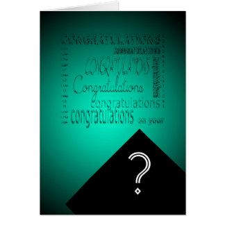 Glückwünsche auf Ihrem Abschluss #2 kundengerecht Karte