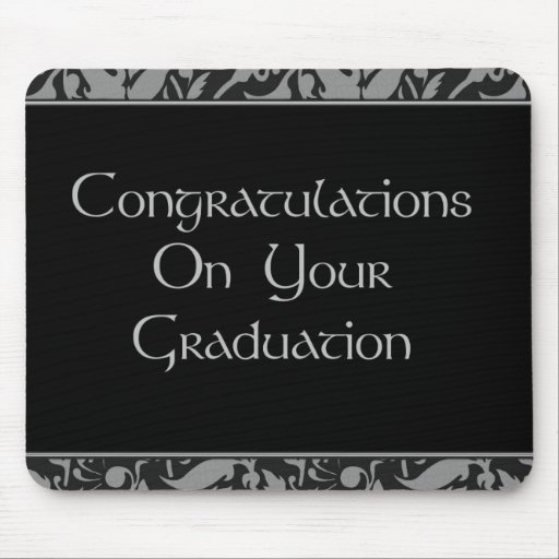 Glückwünsche auf Ihrem Abschluss Mauspads