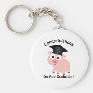 Glückwünsche auf Ihrem Abschluss! Schwein Schlüsselanhänger