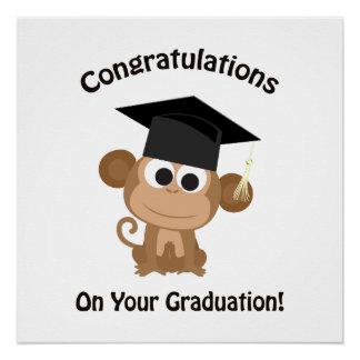 Glückwünsche auf Ihrem Abschlussaffen Perfektes Poster