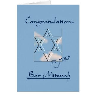 Glückwünsche auf Ihrem Bar Mitzvah! - Blau Karte