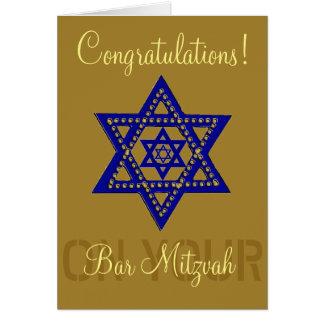 Glückwünsche auf Ihrem Bar Mitzvah Karte