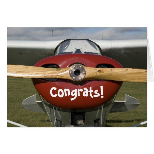 Glückwünsche auf Ihrem ersten Solo- Flug-Piloten Grußkarte