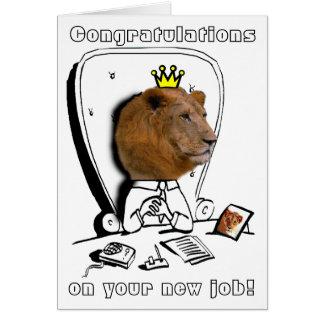 Glückwünsche auf Ihrem neuen Job
