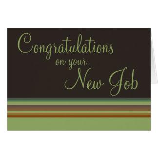 Glückwünsche auf Ihrem neuen Job Karte