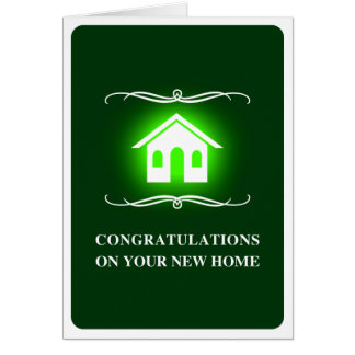 Glückwünsche auf Ihrem neuen Zuhause: Mod-Zuhause Karte