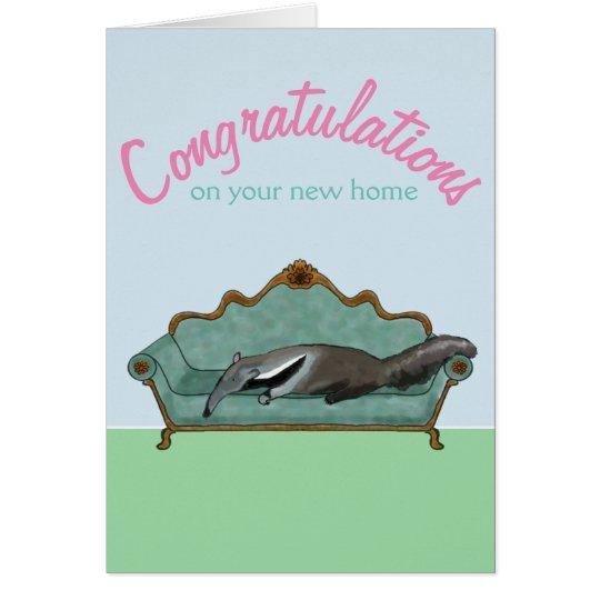 Glückwünsche auf Ihrem neuen Zuhause -- niedlicher Grußkarte