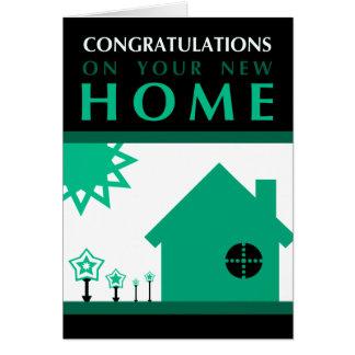 Glückwünsche auf Ihrem neuen Zuhause: Popformen Karte