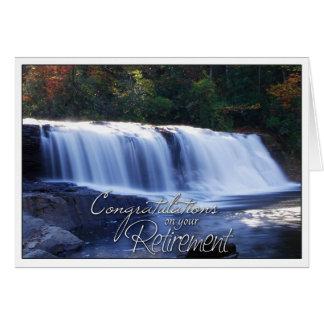 Glückwünsche auf Ihrem Ruhestands-WasserfallPic Karte