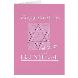 Glückwünsche auf Ihrem Schläger Mitzvah! - Rosa Karte